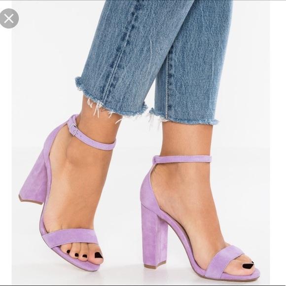 ec4dd795cb0 🆕Steve Madden Carrson lavender block heels/sandal